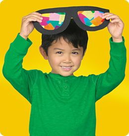 Sunglasses Suncatcher: S is for Sunglasses!  USE UP ALL THOSE TISSUE PAPER SQUARES!