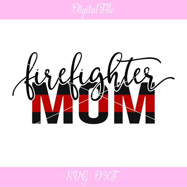 Firefighter Mom SVG | Thin red line | Firefighter Mom file | Cut File | DXF | svg files for Cricut and Silhouette machines by DezCustomCreations on Etsy
