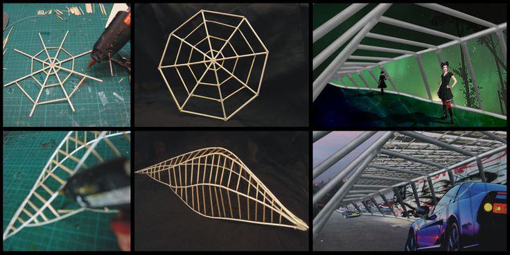 Exploración con maquetas de formas extraídas de la naturaleza
