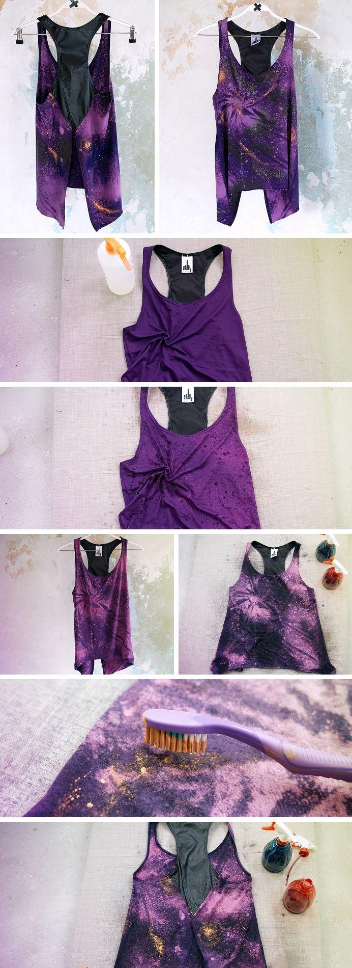 """Tutorial per creare maglia effetto """"Galaxy"""" // DIY tutorial to create a vest in """"galaxy"""" effect.  Check the blogpost! :)"""