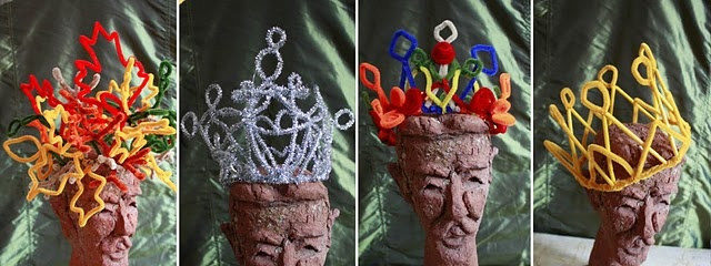 pipe cleaner crowns  ...for the crafty queen...