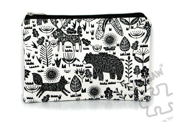 Zipper pouch, Canvas purse , Pencil case , Make up bag , Passport bag , School supply, Card holder Travel pouch , Daily essentials thing Size Approximately 8 wide x 5.5 tall /// 20 cm wide x 13.5 cm tall Canvas fabric Fully lined with white cotton fabric YKK zipper closure Same fabric on front and back  Care Instructions : Hand wash , Sport cleaning , Dry flat , Do not bleach *** We accept Paypal only ***  Mail Shipments are sent by Registered Mail There is a Tracking Number an...