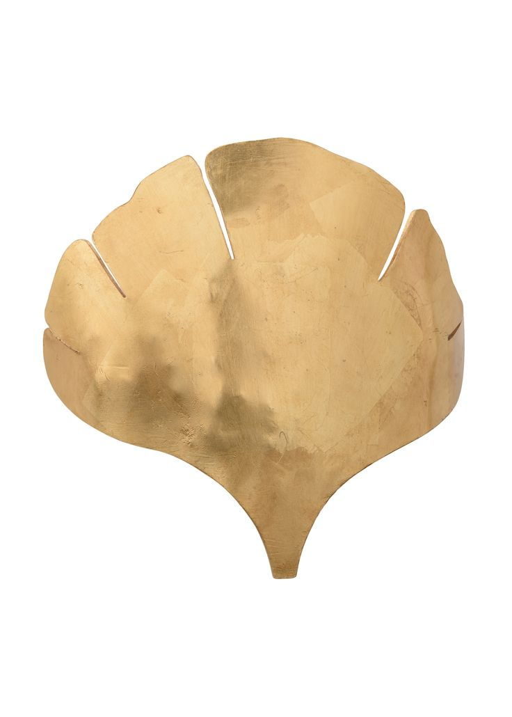 Ginkgo Antique Gold Leaf Wall Sconce  - LOW STOCK , ORDER NOW