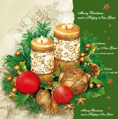 3718 V Servilleta decorada Navidad