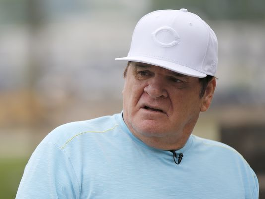 Doc: Notebook closes door on Pete Rose reinstatement. Photo: Pete Rose chatted with Enquirer columnist Paul Daugherty earlier this month. The Enquirer/Kareem Elgazzar