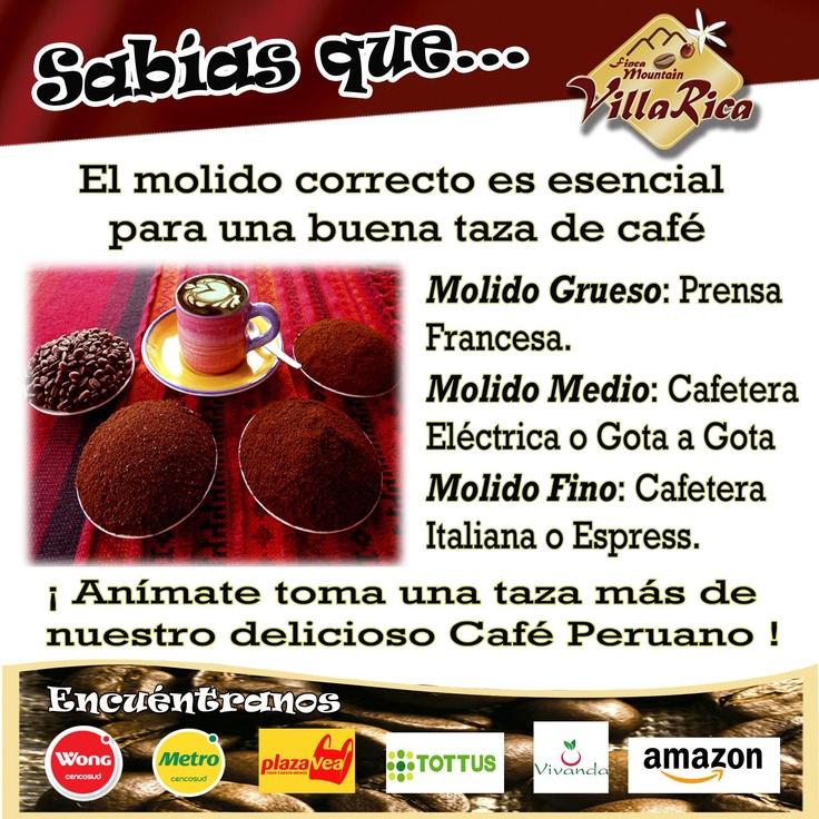 #Café tipos de Molienda