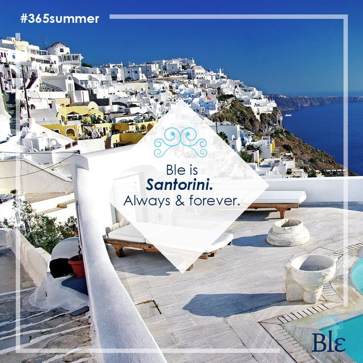 The big blue. The endless horizon. The picturesque white houses.  Nothing compares to Santorini's views. Right? #BleResortCollection #365summer