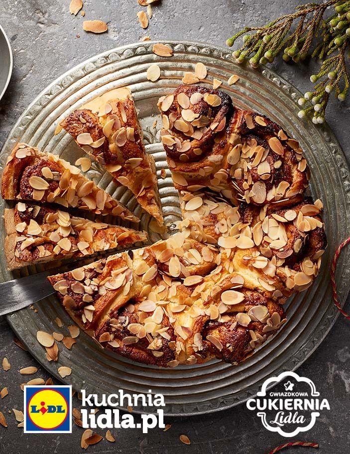 Drożdżowy zawijaniec z migdałami. Kuchnia Lidla - Lidl Polska. #lidl #Pawel #almonds