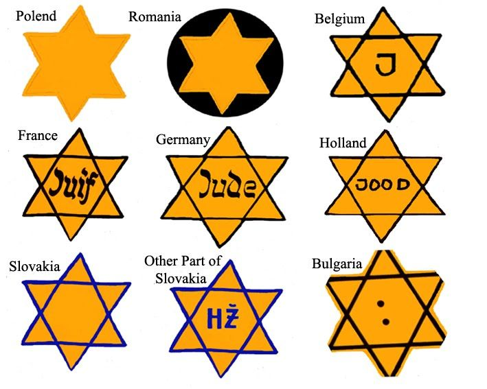 "May 29, 1942 examples of diffrent Jewish stars. Joseph Goebbels had made the persecution, and ultimately the extermination, of Jews a personal priority from the earliest days of the war, often recording in his diary such statements as: ""They are no longer people but beasts,"" and ""he Jews... are now being evacuated eastward. The procedure is pretty barbaric and is not to be described here more definitely. Not much will remain of the Jews."""
