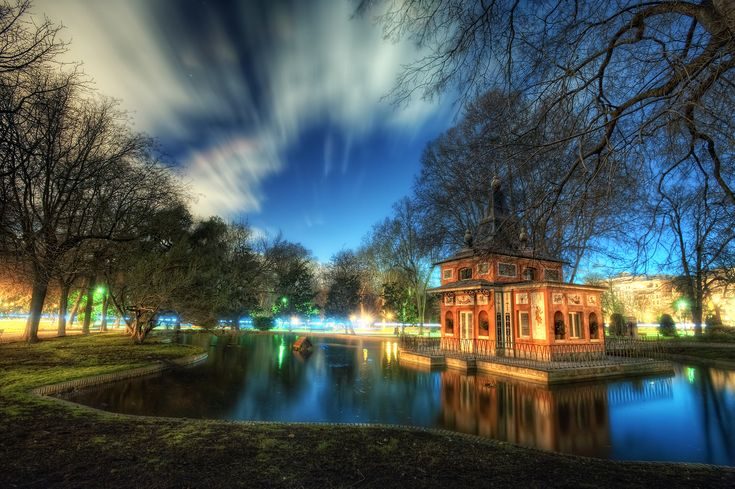 Pond of the Fisher's Cabin – Cabaña del Pescador, Parque del Retiro, Madrid, HDR, by marcp_dmoz