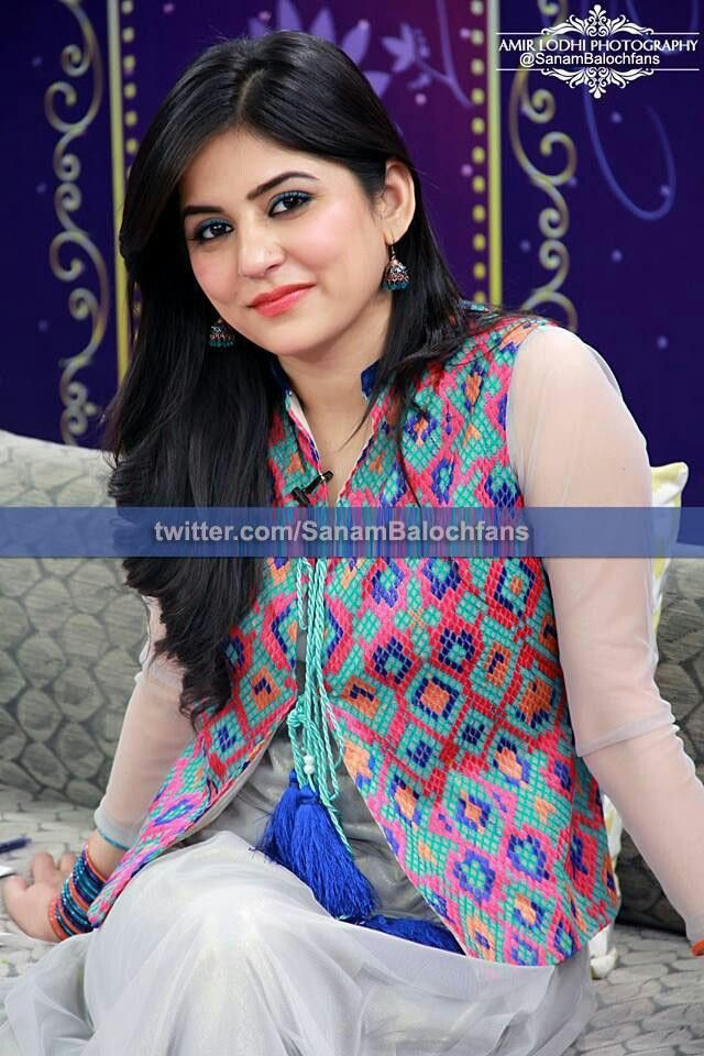 Sanam baloch jacket dress