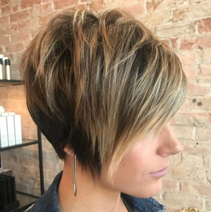 70 Cute and Easy-To-Style Short Layered Hairstyles #11: Long Tapered Pixie with Messy Crown When you want something cute and easy to maintain, you sho...