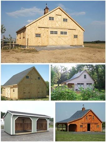 Free Three and Four Stall Horse Barn Plans - Download free plans for beautiful horse barns from  BarnToolBox.com