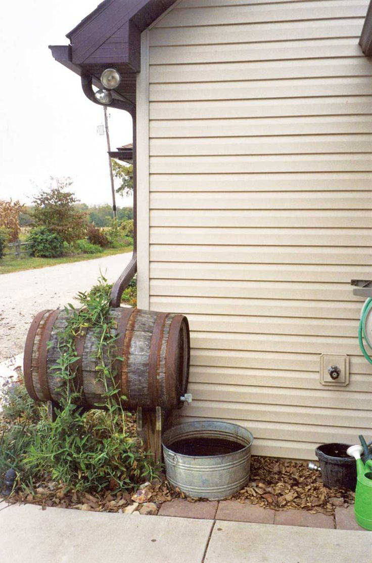 This easy-to-build rain barrel setup can capture rain for watering plants, rinsing produce, and countless other uses.