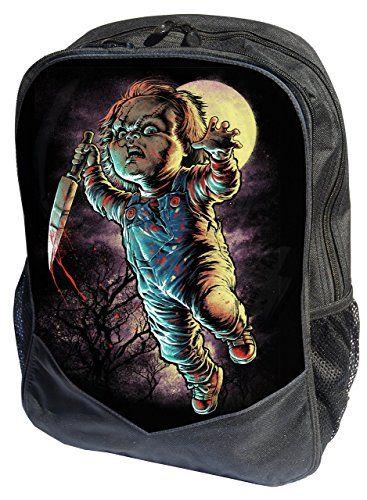 Auténtica Darkside Chucky película de terror mochila para portátil Mochila bolsa #Auténtica #Darkside #Chucky #película #terror #mochila #para #portátil #Mochila #bolsa