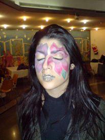 flower makeup halloween makeup facepaint flower