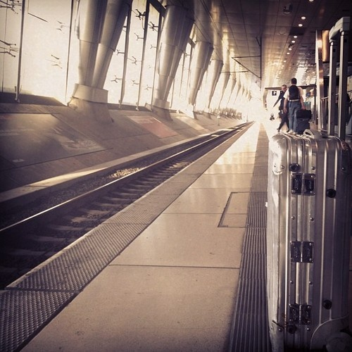 Waiting For Godot. #rimowa #trainstation (With Images