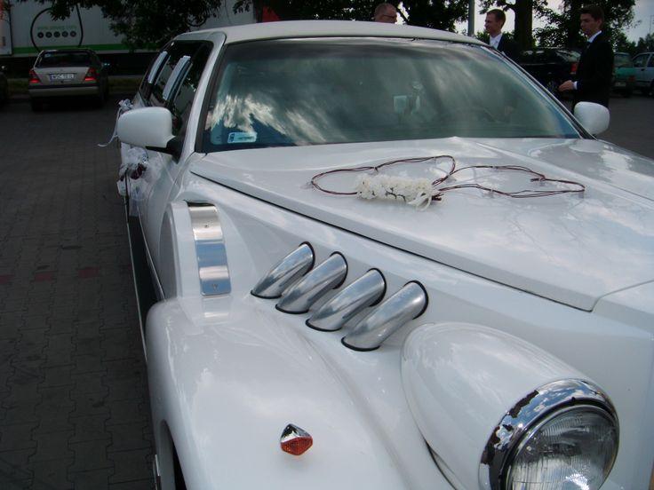 Ślubna dekoracja auta - Serca Dwa