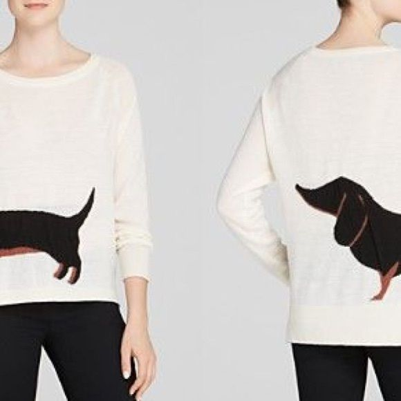 French Connection Dachshund Sweater  Regular price$158 Sale price $89 Size XSSML  This item runs true to size Sizes available: XS,S,M,L