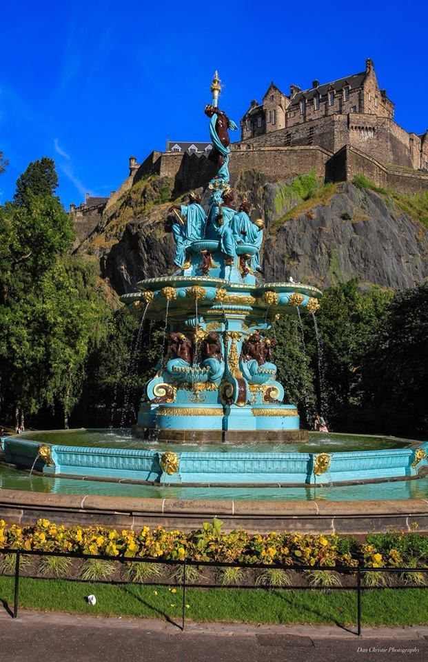 Newly painted Ross Fountain, Edinburgh, Scotland. Dan Christie Photography.  | Scotland vacation, Edinburgh, Scotland