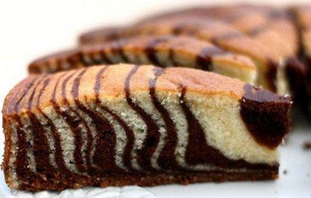 Торт зебра - Рецепты торта зебра - Как правильно готовить торт зебра