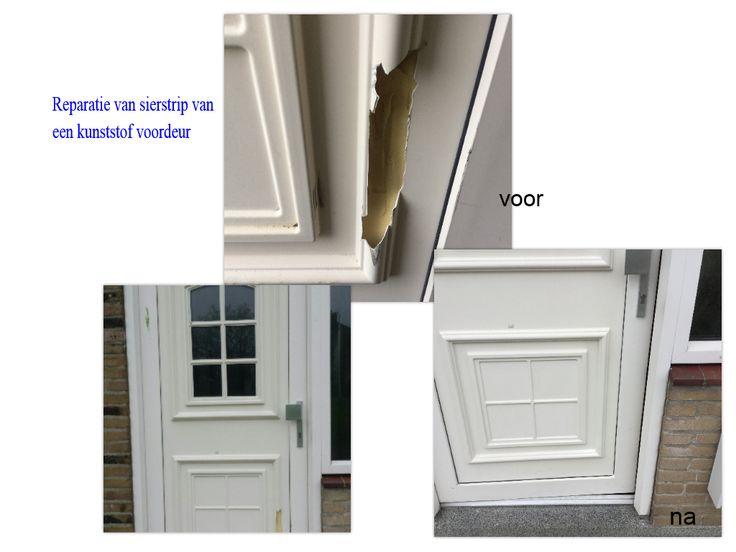 Reparatie kunststof kozijn of deur.
