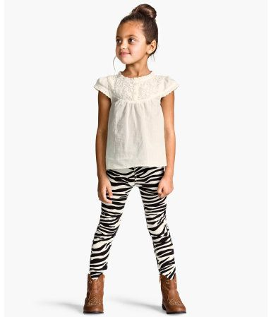 More of these for I; elastic band for toddler. I have 2-3, need 3-4years. H&M: Patterned Treggings