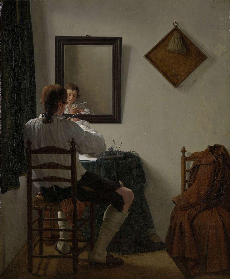 Een schrijver die zijn pen versnijdt, Jan Ekels (II), 1784
