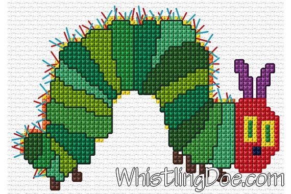 Very Hungry Caterpillar cross stitch pattern. :)