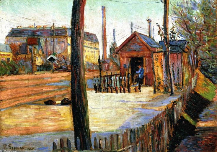 The Junction at Bois-Columbes, Oil On Canvas by Paul Signac (1863-1935, France)