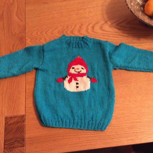 Intarsia - Snowman Chart - Childrens Sweater Knitting ...