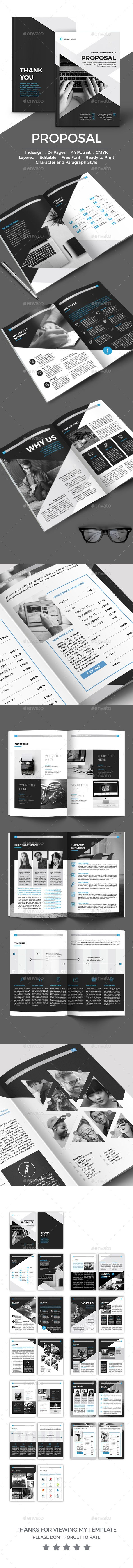 Proposal  — InDesign Template #black #blue #gray • Only available here ➝ https://graphicriver.net/item/proposal/17703958?ref=pxcr