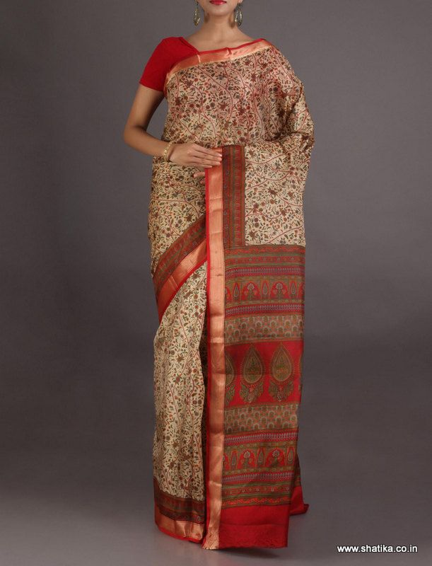 Surabhi Swaying Dainty Flowers #PrintedSilkSaree