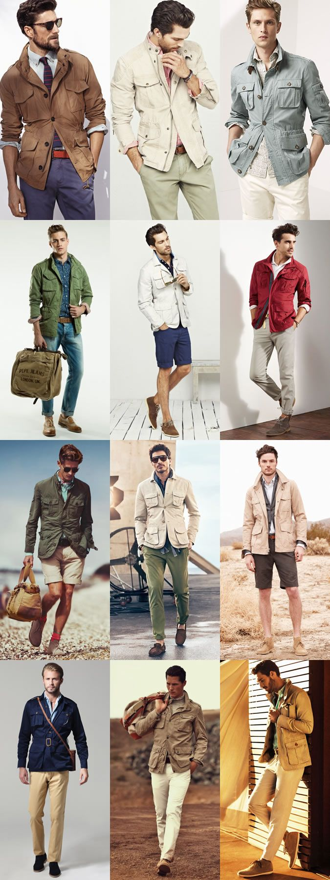 Men's Key Spring Jackets And How To Wear Them: The Safari Jacket Lookbook Inspiration