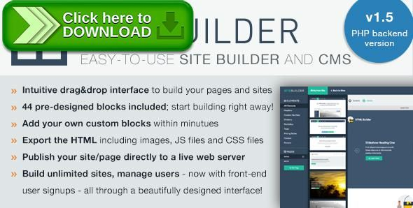 [ThemeForest]Free nulled download SiteBuilder Lite - Drag&Drop site builder and CMS from http://zippyfile.download/f.php?id=53713 Tags: ecommerce, content management system, drag and drop, Light CMS, page builder, site builder, website builder