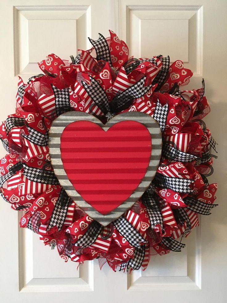 valentine wreath craft idea for valentines day - 736×981