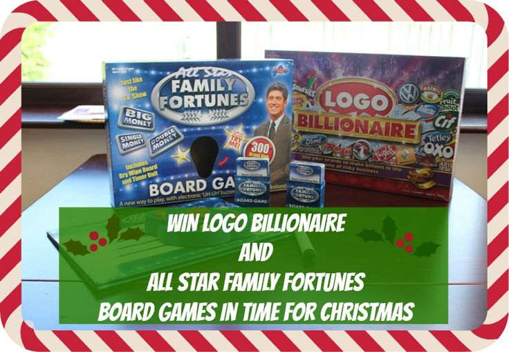Enter this Giveaway to win LOGO Billionaire & Family Fortunes from Drumond Park Ends 09/12/2015