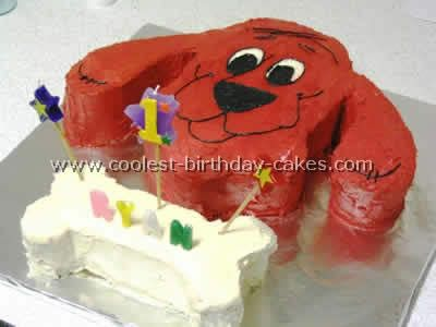 my kid wants a clifford cake for birthday. Looks cute and easy.