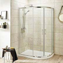 Pacific Offset Quadrant Shower Enclosure Inc. Tray + Waste (Right Hand) Medium Image