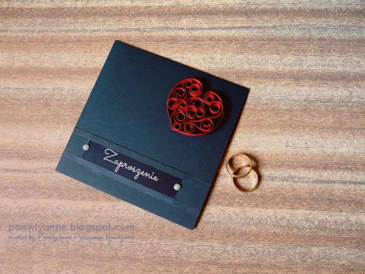 Heart & black. Wedding invitation.   #wedding #invitation #handmade #cardmaking #quilling #minimalistic #heart