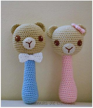 Sonajeros de Crochet | Tramas de Colores | Bloglovin'