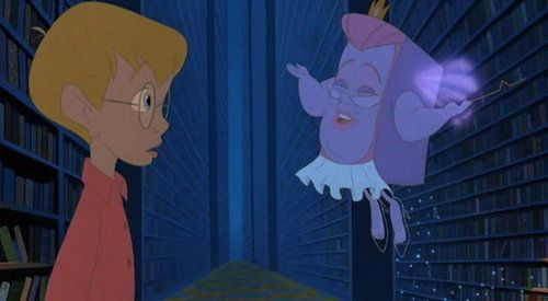 """Which princess is featured on Fantasy's (from """"The Pagemaster"""") underwear?"""