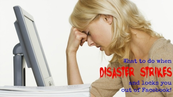 Click here: http://www.isocialize.com.au/fblockedout to find out what you need to do when disaster strikes and locks you out of Facebook!