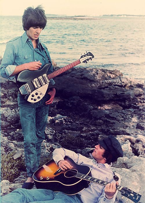 George Harrison and John Lennon  because the world is round.