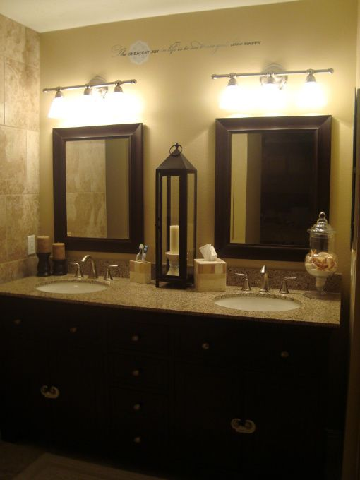 DIY Master bath, Months of my hubby's weekend hard work is complete. Vanity from Costco, everything else is from Home Depot. , Bathrooms Design