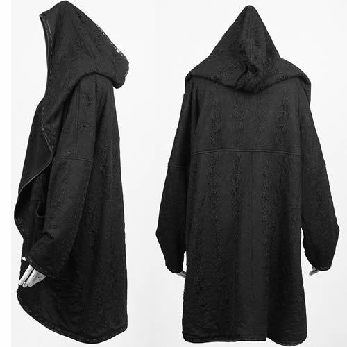 Black Gothic Vampire Fashion Clothing Hooded Poncho for Men Women SKU-11401449