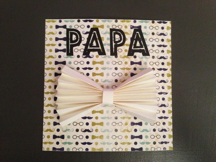 Carte papa et noeud papillon 3D pour souhaiter la fête des pères, un anniversaire, une fête… : Cartes par crea-graphic