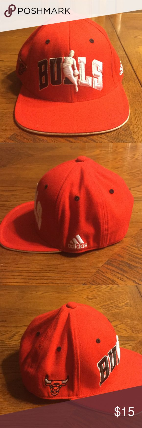 NBA BULLS FITTED CAP Densely colored NBA adidas BULLS comfortable fitted cap Adidas Accessories Hats