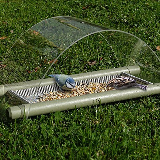 Could Make This With A Gutter Cover From Hd Bird Feeder