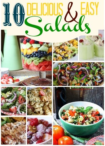 10 Delicious & Easy Salads by MyBlessedLife.net